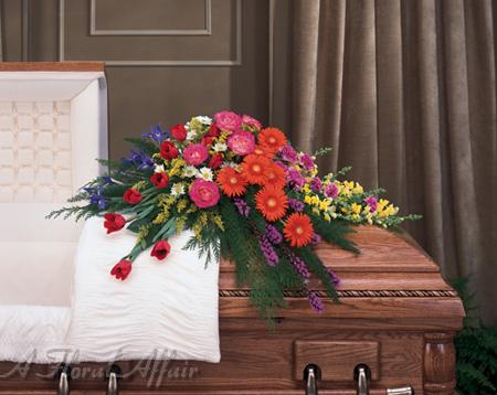 Sympathy And Funeral Flowers Sy0010 Gerbera Daisies Summer Open Casket Spray