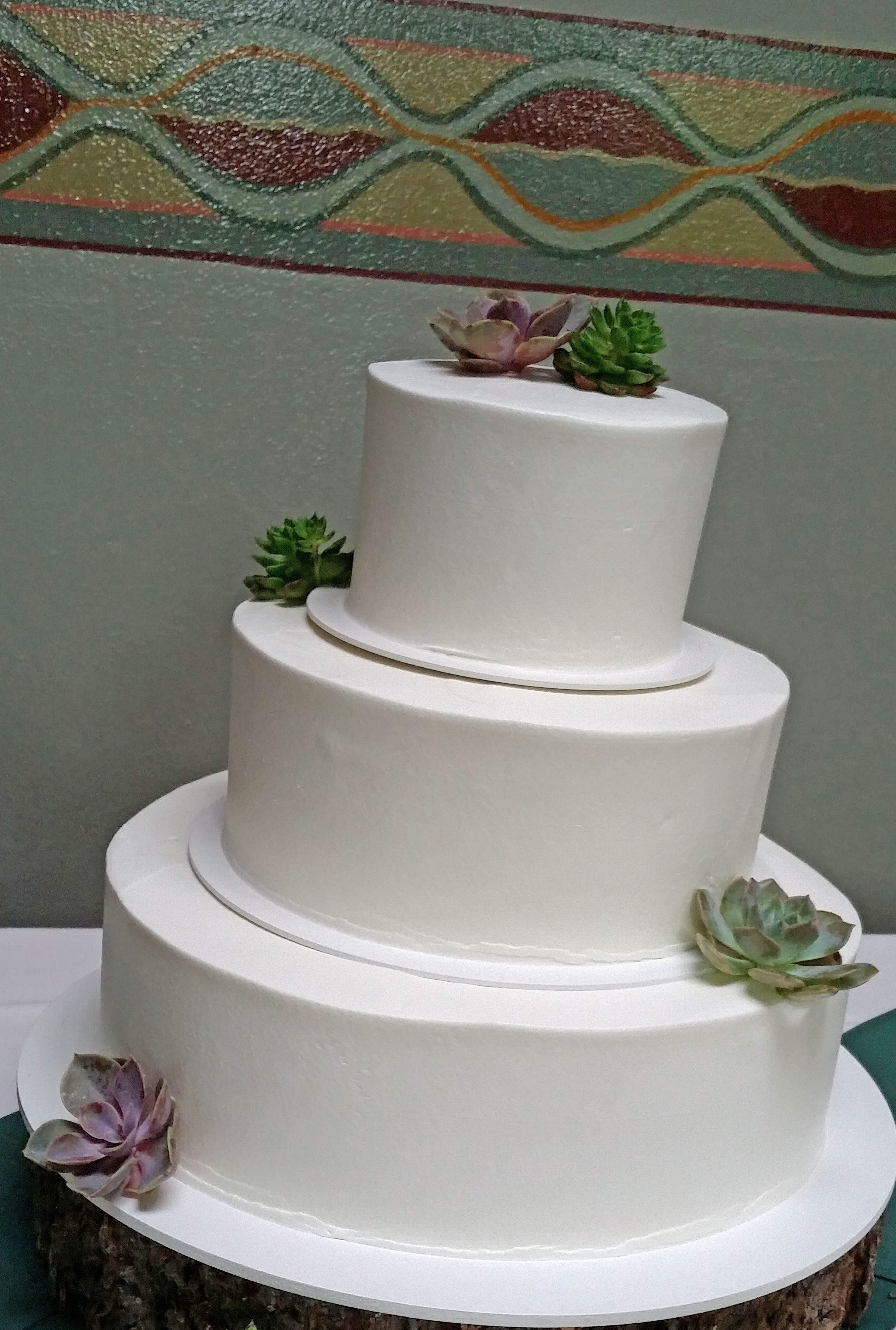CA0156-Succulents on Wedding Cake
