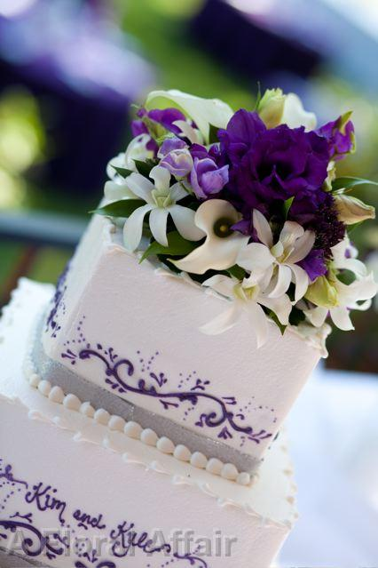 purple flower wedding cake toppers wedding cakes ca0125 royal purple floral cake topper 18896