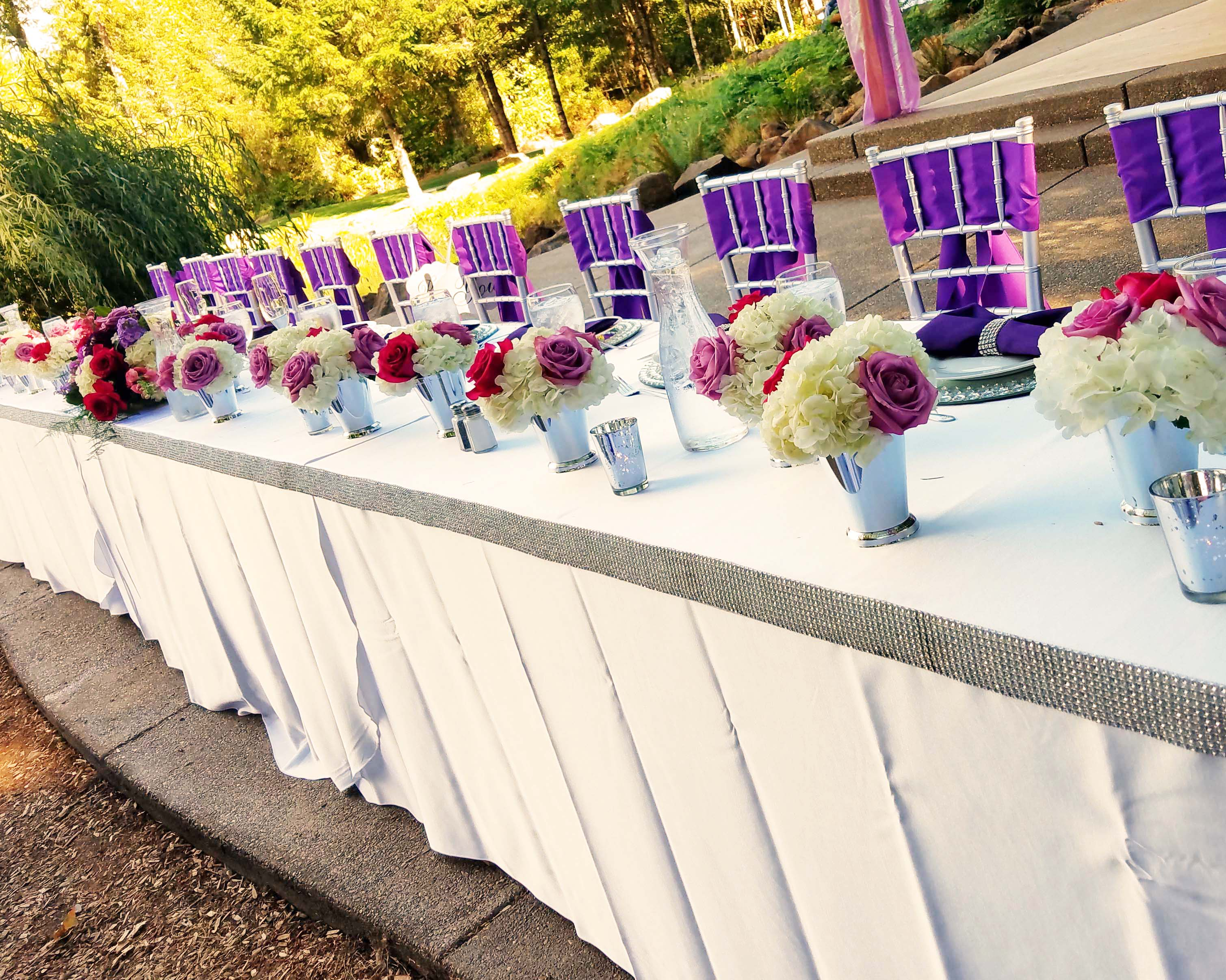 FT0732-Long Head Table Decoration